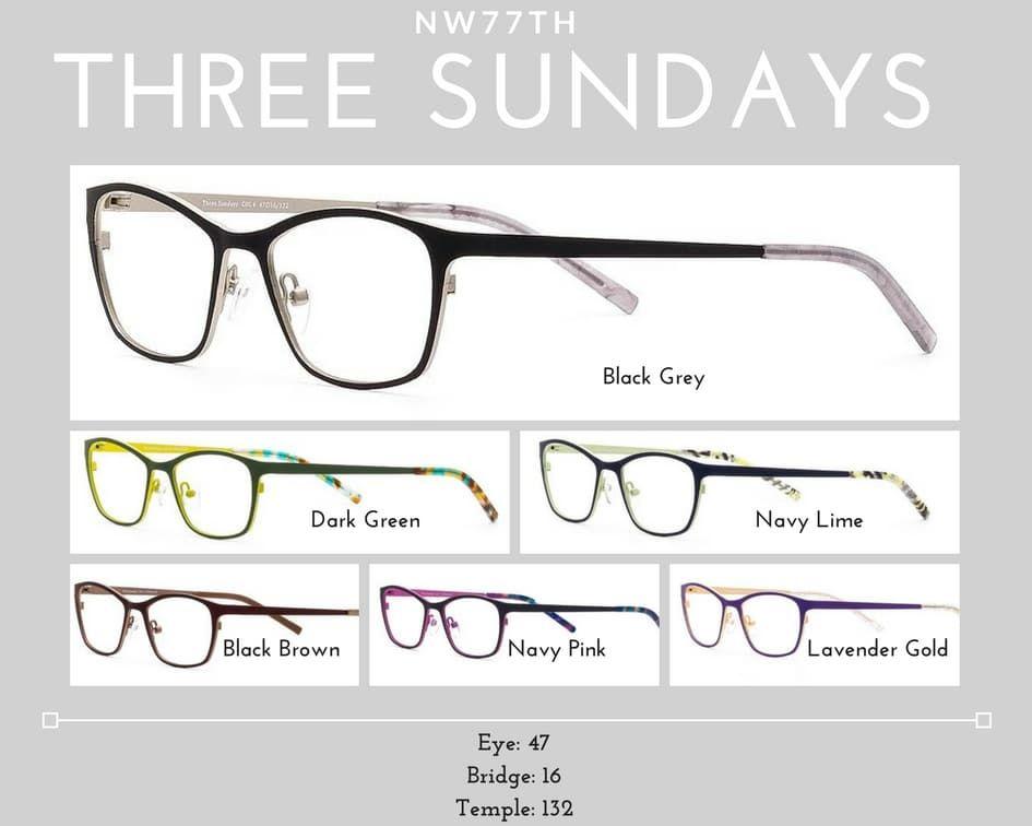 womens glasses three sundays
