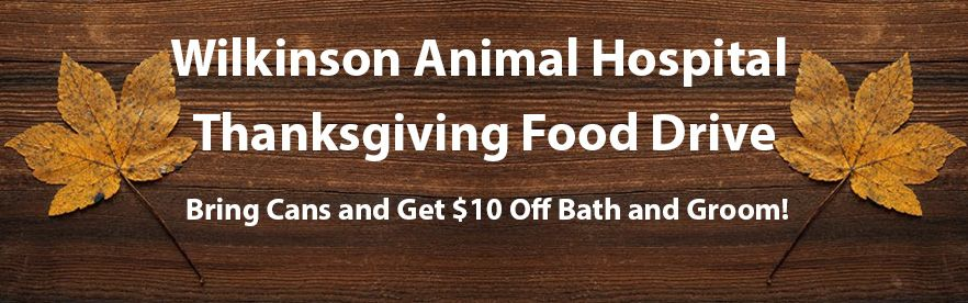 Bring cans to our food drive and get $10 off Bath & Groom