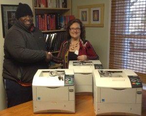 Dr. Jim Gill donates printers to Gastonia Boys and Girls Club