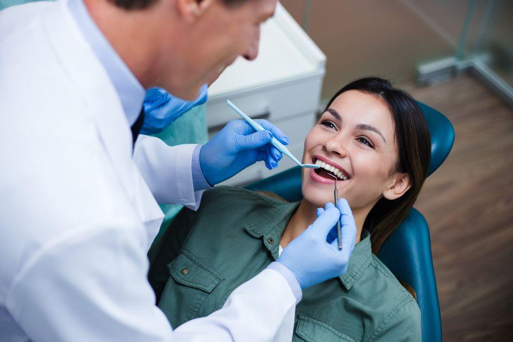 smiling patient dentist