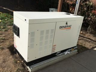 Animal hospital gas generator at Petaluma Veterinary Hospital