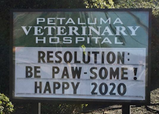 New Years Resolution funny Sign