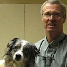 Dr T. with Maggie, his dog