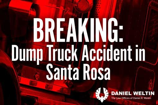 Six injured in fiery dump truck accident in Santa Rosa