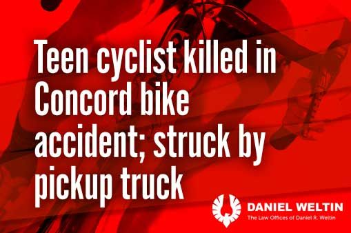 Concord bike accident kills teen cyclist
