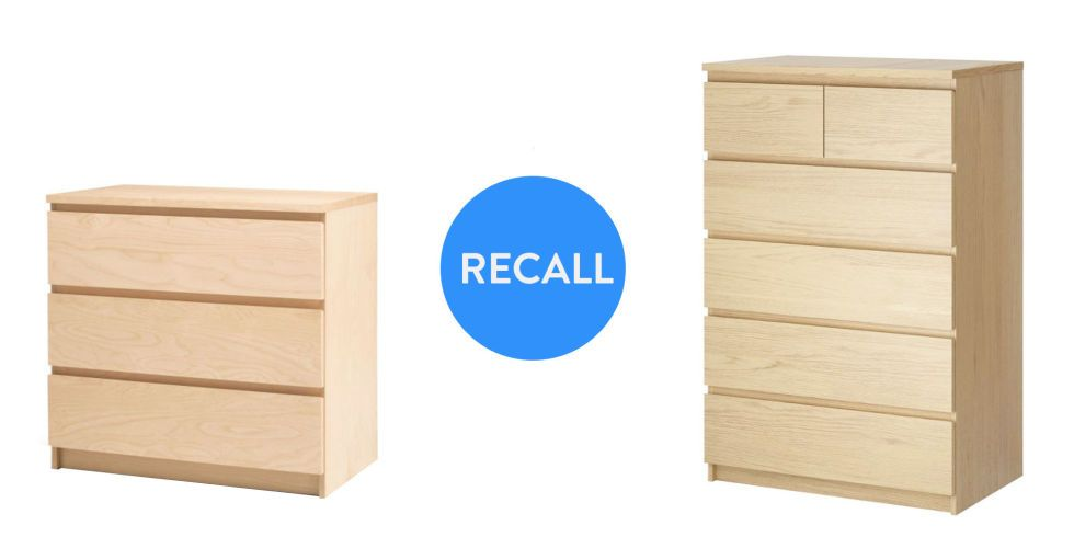 Ikea Recall – Chests and Dressers – Tip Over Fatalities