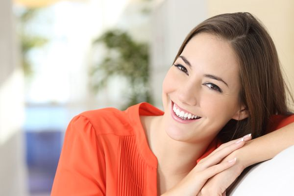 Beauty woman with perfect white teeth