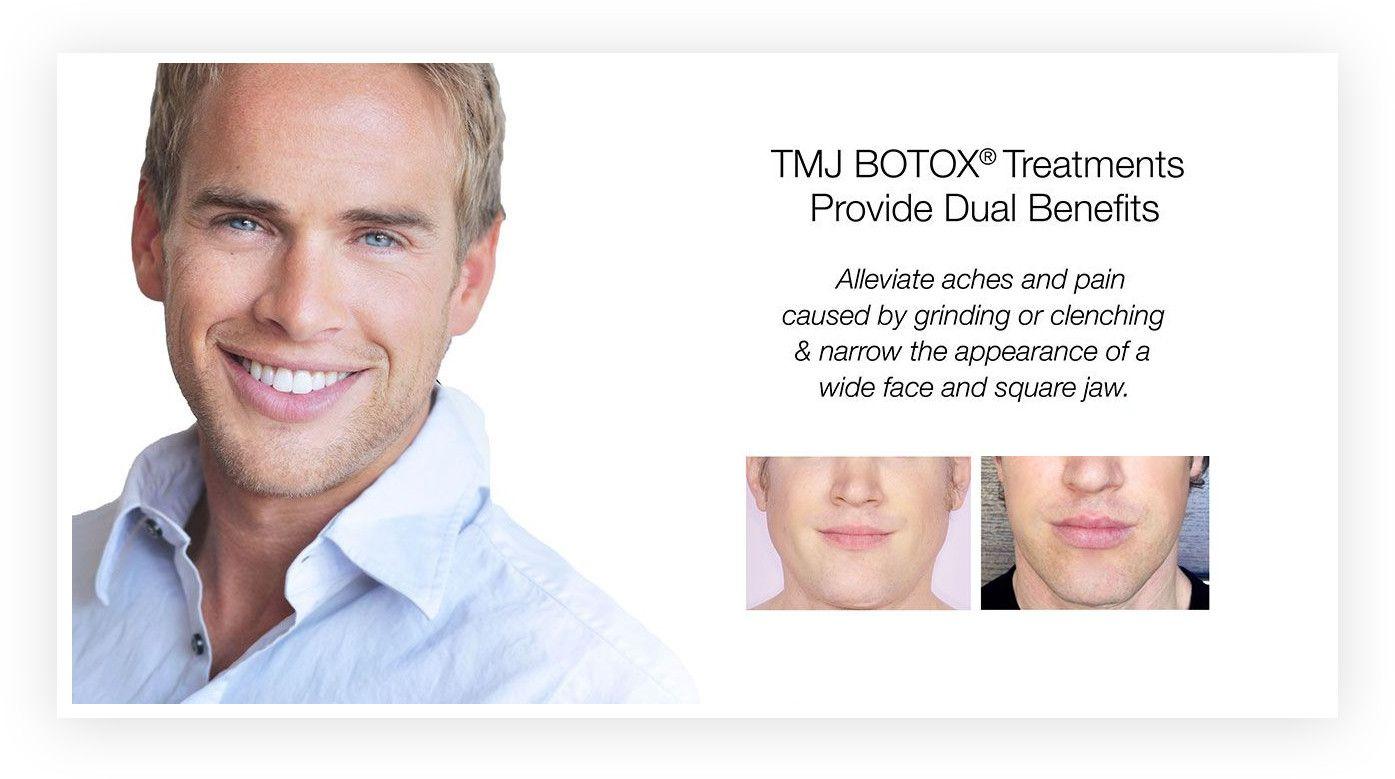 smiling man having Botox and Dermal Fillers