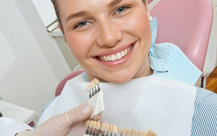 smiling lady in a dental clinic