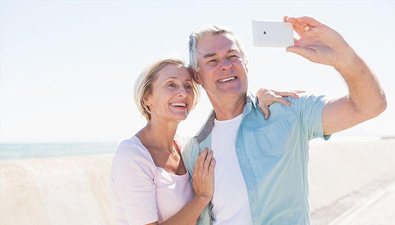 couple taking a selfie