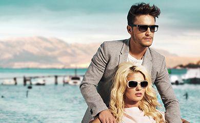 couple wearing shades