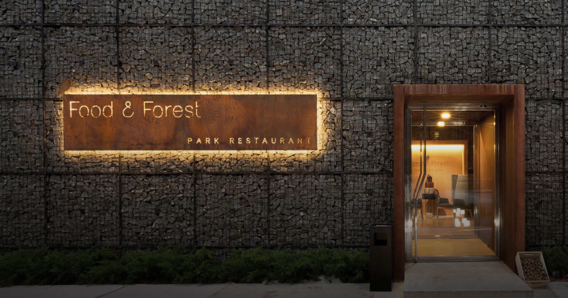 Food & Forest Logo Signage