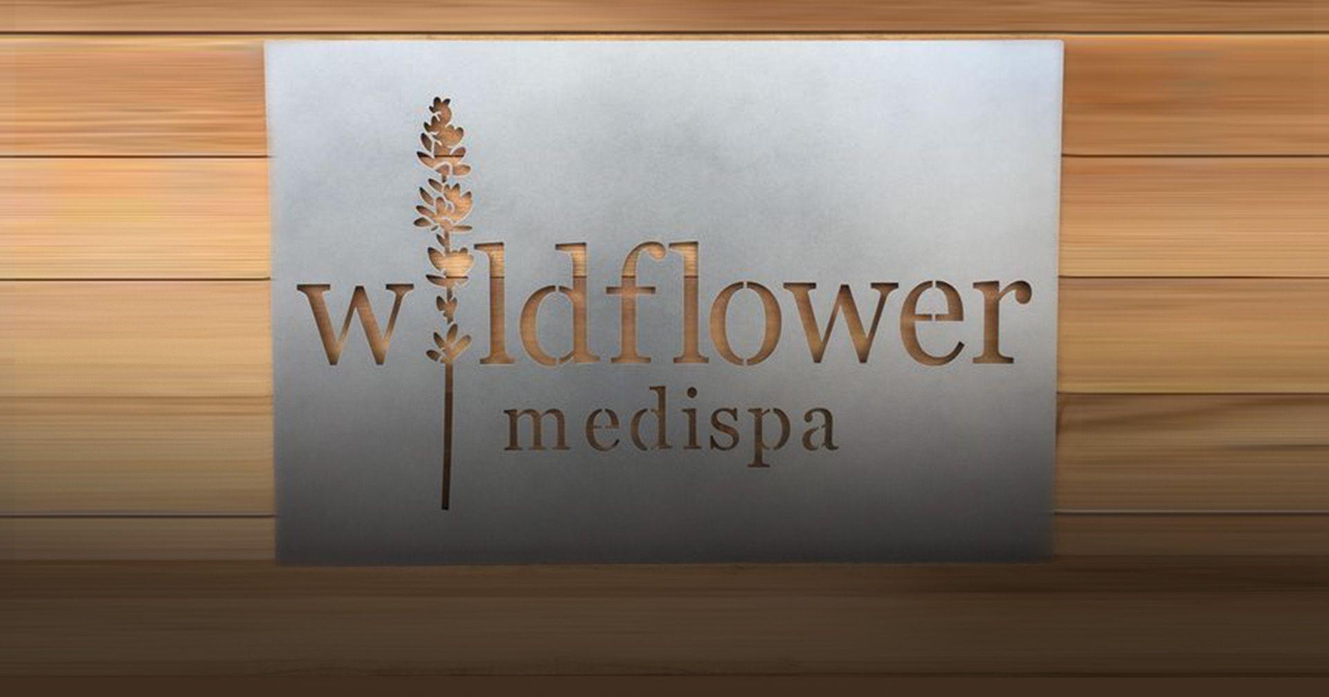 Wildflower Medispa Logo Signage