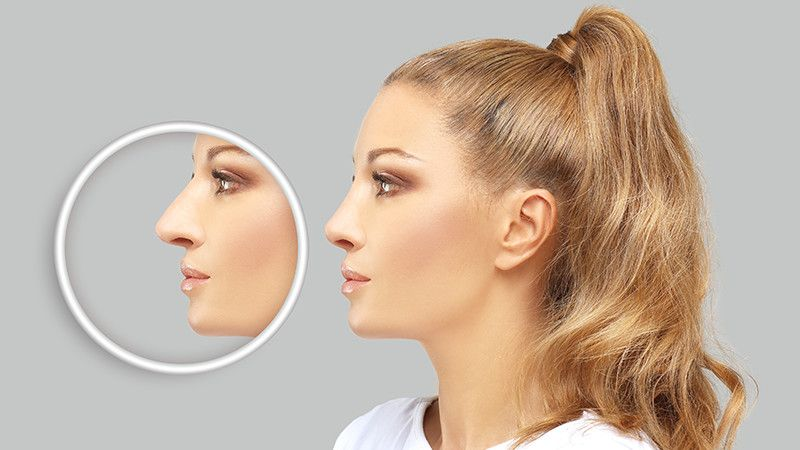 woman with beautiful nose