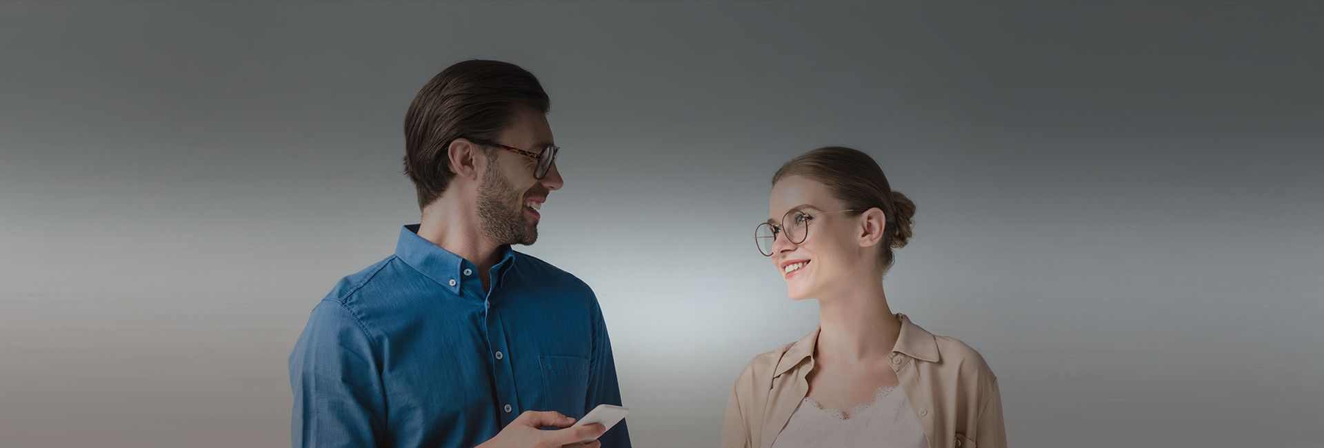 couple in eyeglasses