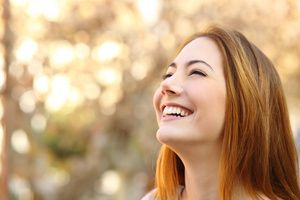 happy and smiling young woman