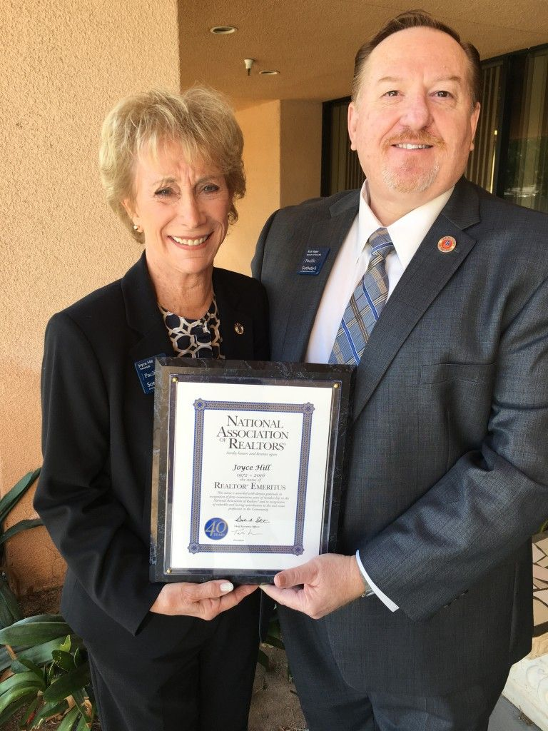 Joyce Hill, Branch Manager for Pacific Sotheby's International Realty's La Mesa office, and Rick Hagen, Broker of Record, Pacific Sotheby's International Realty