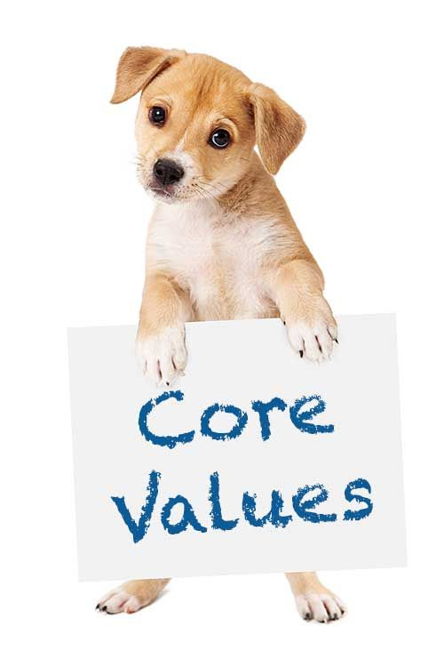 core values puppy pic