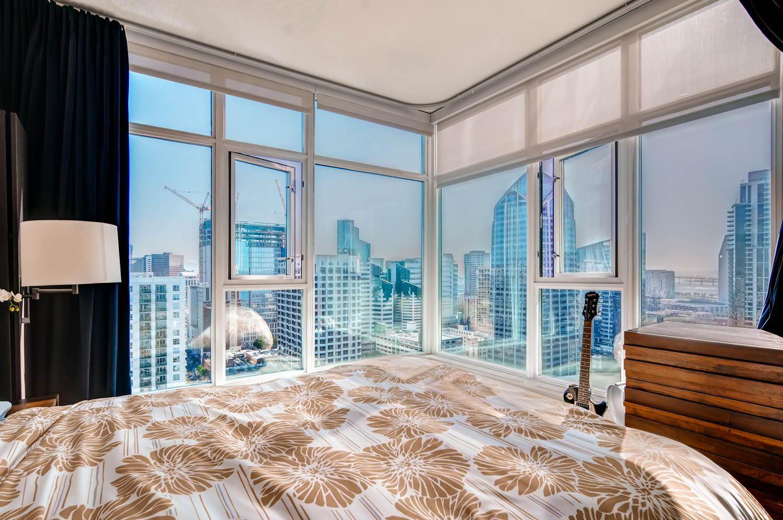 Master Bedroom Overlooking Downtown
